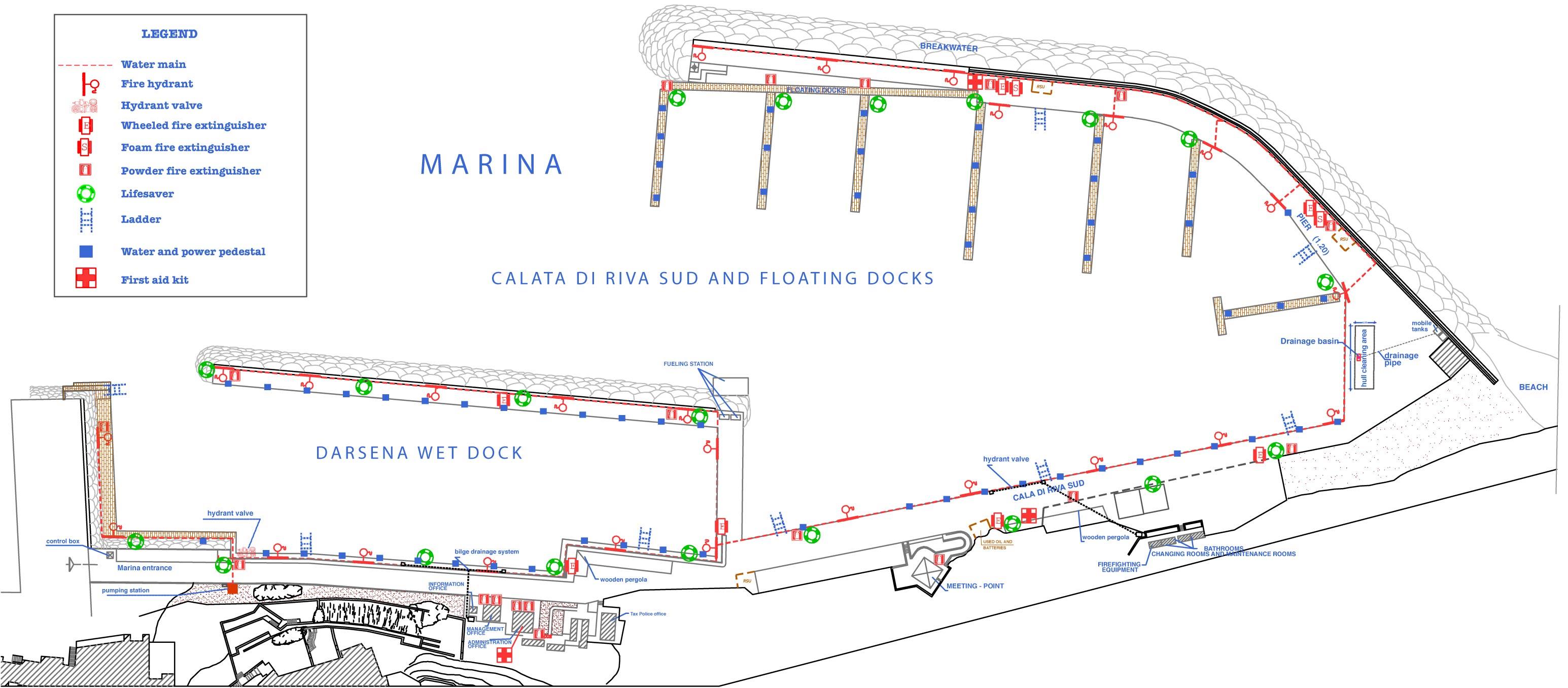 Basic Map Of Italy.Marina Of Capri Marina Map Capri Italy